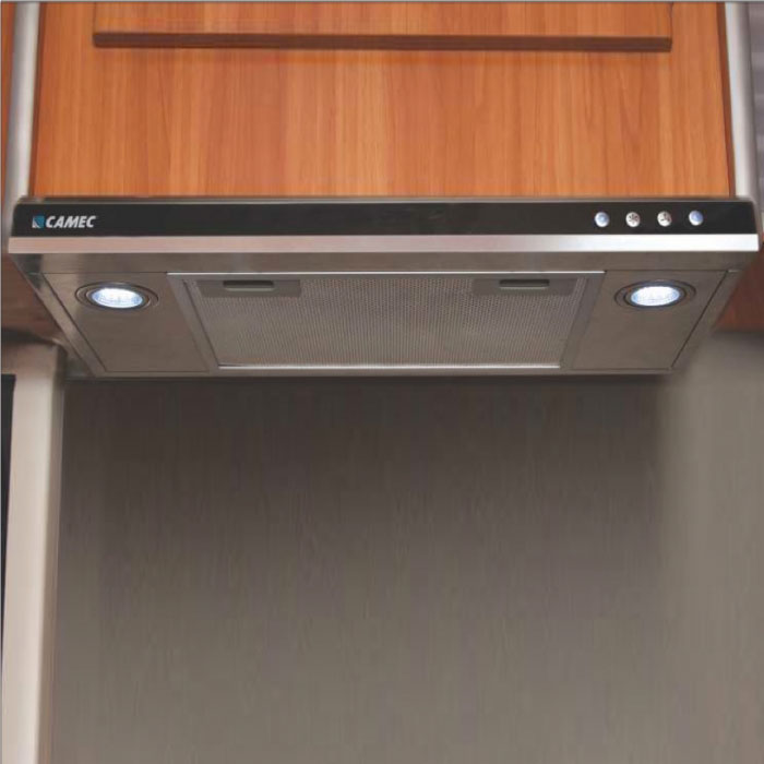 Camec 12V Rangehood With Twin LEDs - 2 Speed. 586 x 305 x 60mm