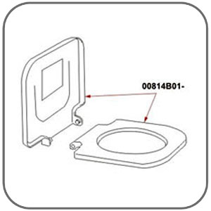 98659-005: Seat & Cover - Suit Fiamma Bi-Pot 1513 / 1520 / 30 / 34 / 39 Toilets
