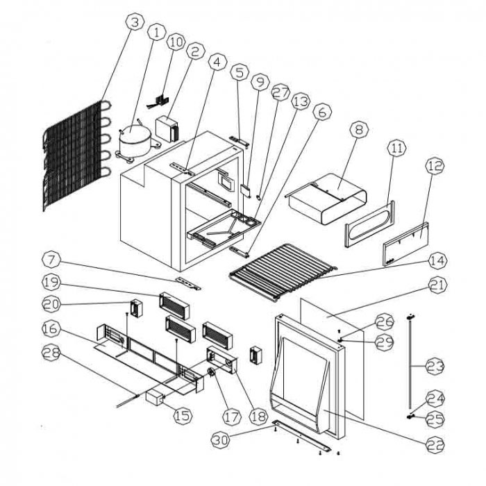 Waeco Locking Rod To Suit Mdc 110 Sp 1808000