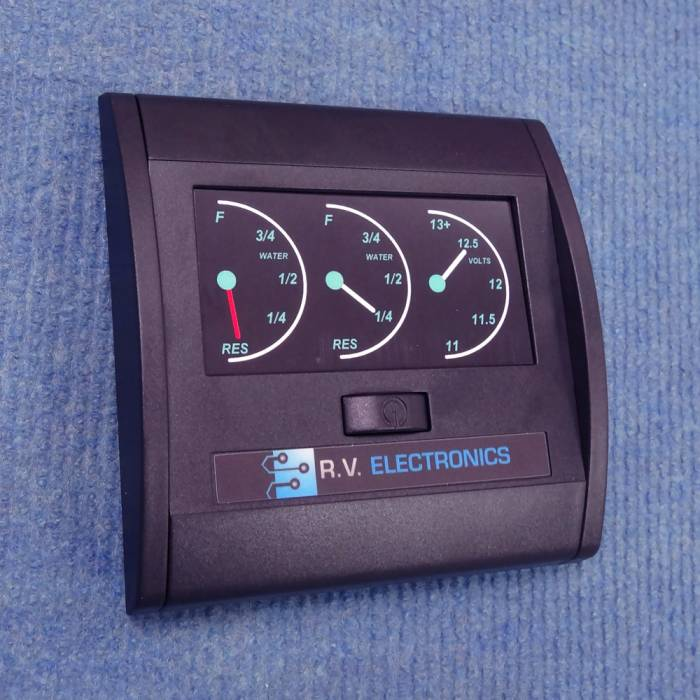 Rv Battery Monitoring Display : Rv electronics lcd tank water level indicator and