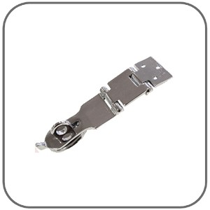 Polished Brass Double Hinge - 135mm Hasp-N-Staples