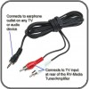 3.5mm to RCA Cable - TV to Tuner - 5 metres
