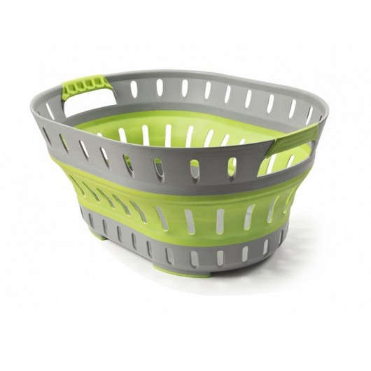 Pop-Up Washing Basket - Green / Grey