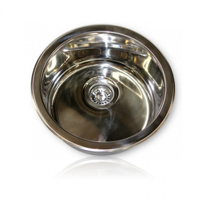 Camec Stainless Steel Round Basin 450 x 180mm Deep