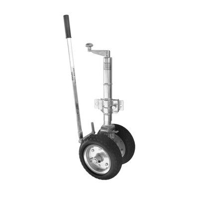 MANUTEC EasyMover Dual Solid Wheel - Ratchet Jockey Wheel with Clamp