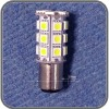 LED - BAY15D Double Contact Bulb, 216 Lumens, Offset Pins, Cool White LEDs