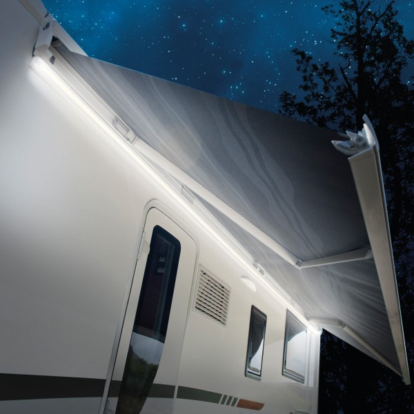 Caravansplus 5m led strip light silver suit awnings for Eclairage exterieur 12 volts