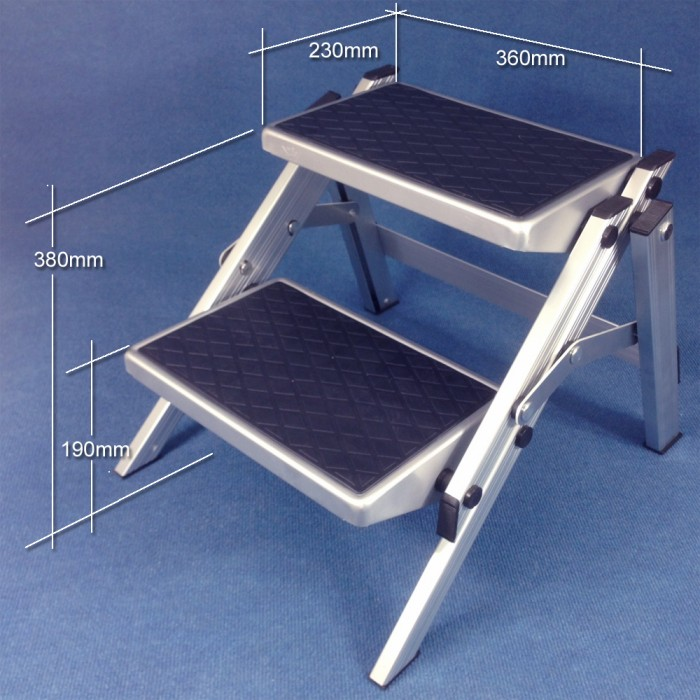 Caravansplus Supex Folding Double Step Aluminium