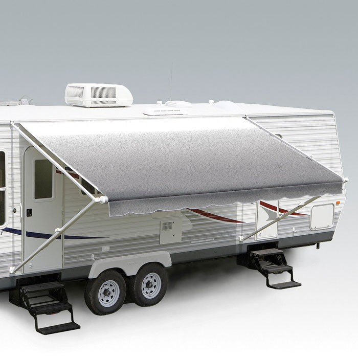 Carefree Fiesta awning 13ft - Silver Shale Fade - Fabric on Roll (No Arms)