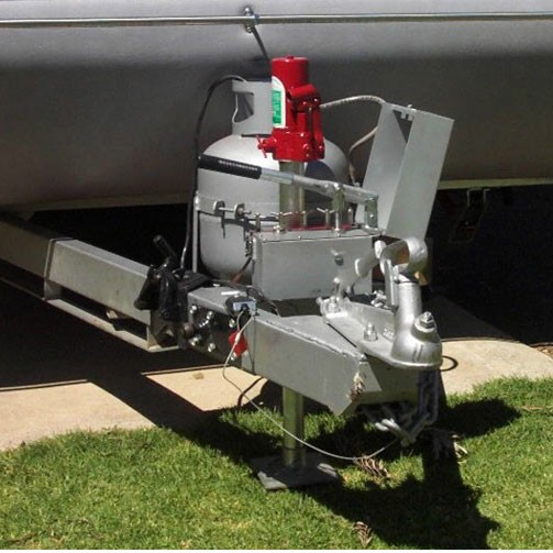 Caravansplus Stabil Mate Hydraulic Caravan Legs Corner
