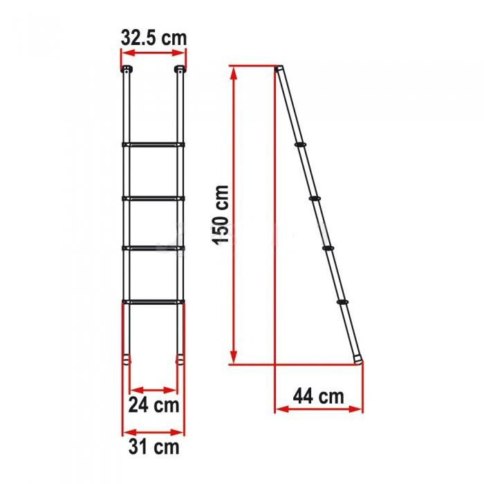 Caravansplus Fiamma Ladder 4 Rung Aluminium Suit