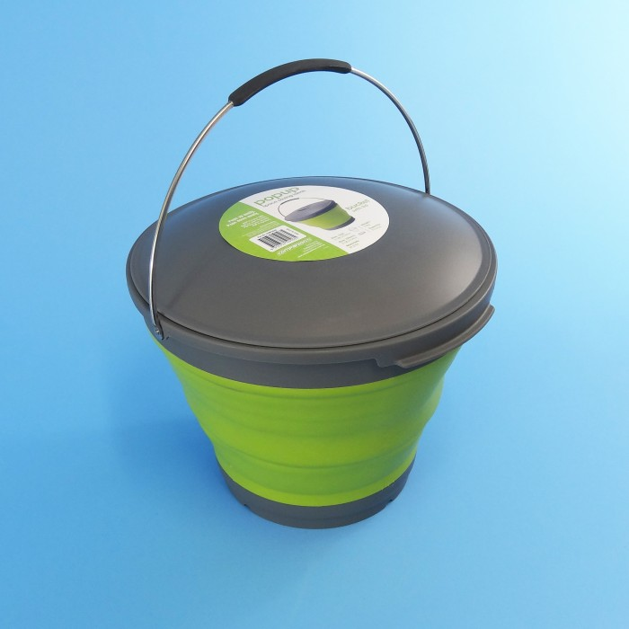 Pop-Up Bucket with Lid - 9.5 Litre