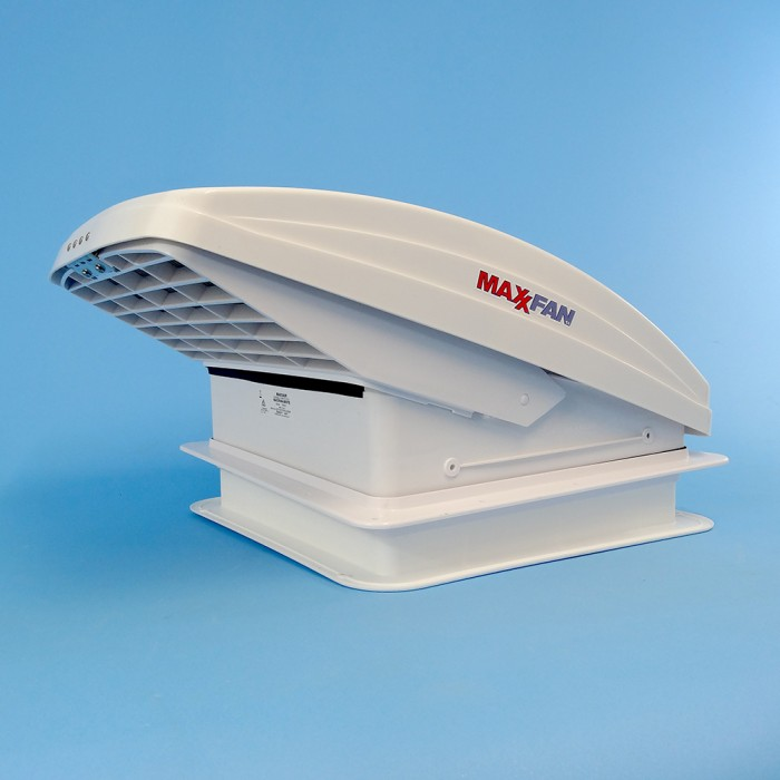 MaxxAir: Maxxfan Deluxe with Rain Dome / Thermostat / Power Lift / Remote -  355mm