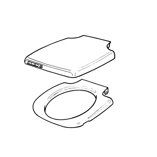 07317: Cover and Seat - Suit Thetford Porta Potti 465 Toilet