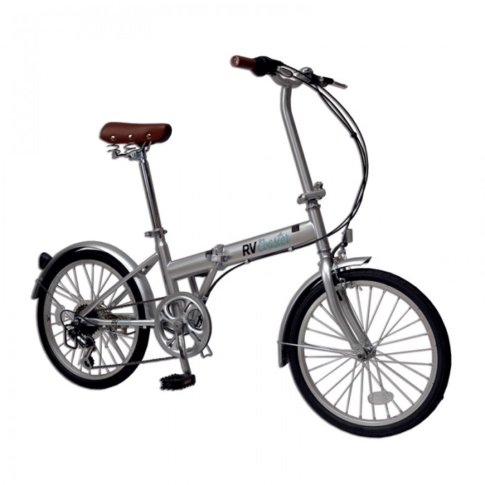 RV Coaster 20 inch Folding Bike - Shimano 6 Speed - Silver