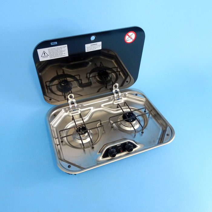 Smev 8000 - 2 Burner Hob With Lid. 480w-370d