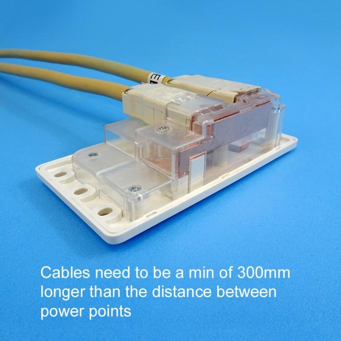 CMS DIY 240V Double Pole, Double Power Point, White