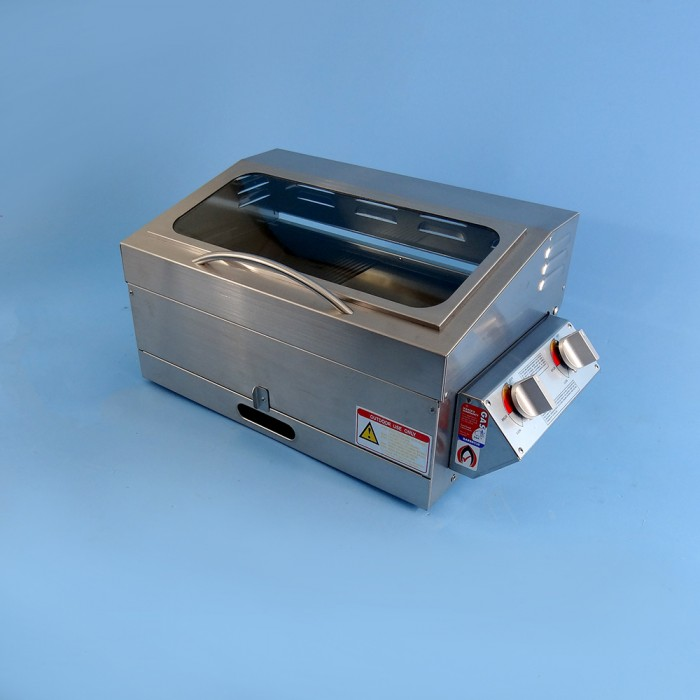 Sizzler Deluxe 2.0 Gas BBQ,  Stainless Steel, 255h x 530w x 300d