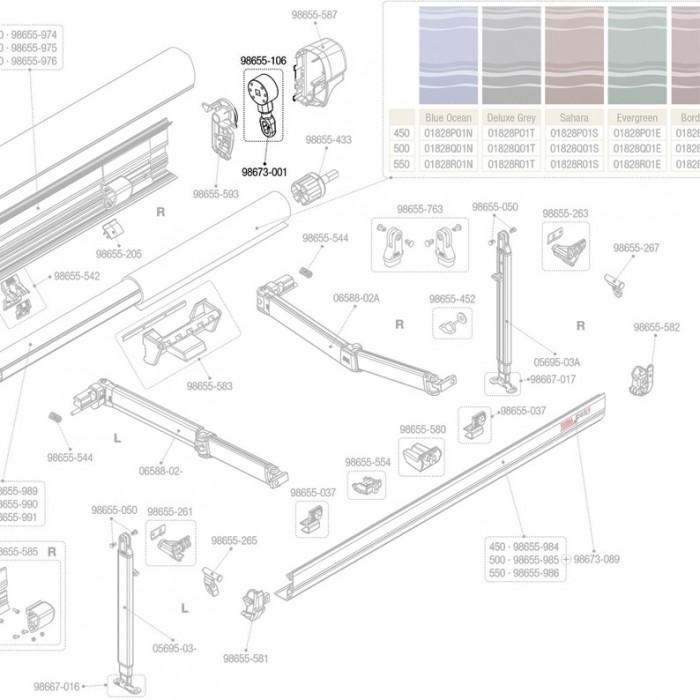 Caravansplus 98655 106 Winch Fiamma F45 I L Awning Parts