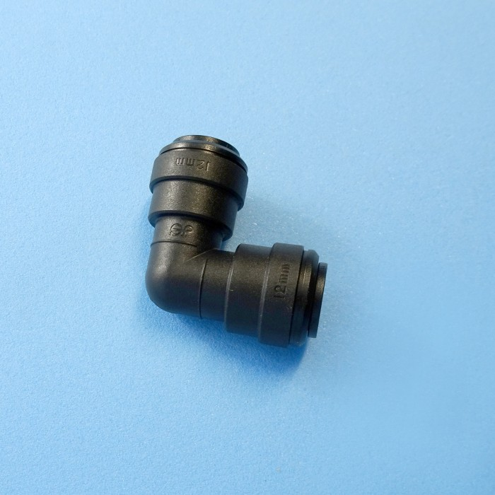 12mm John Guest, Push-On, Elbow