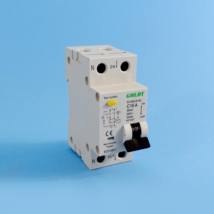 Miniature 16amp Circuit Breaker, Double Pole, Residual Current Device