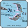Dimensions of FORD axle and bearings