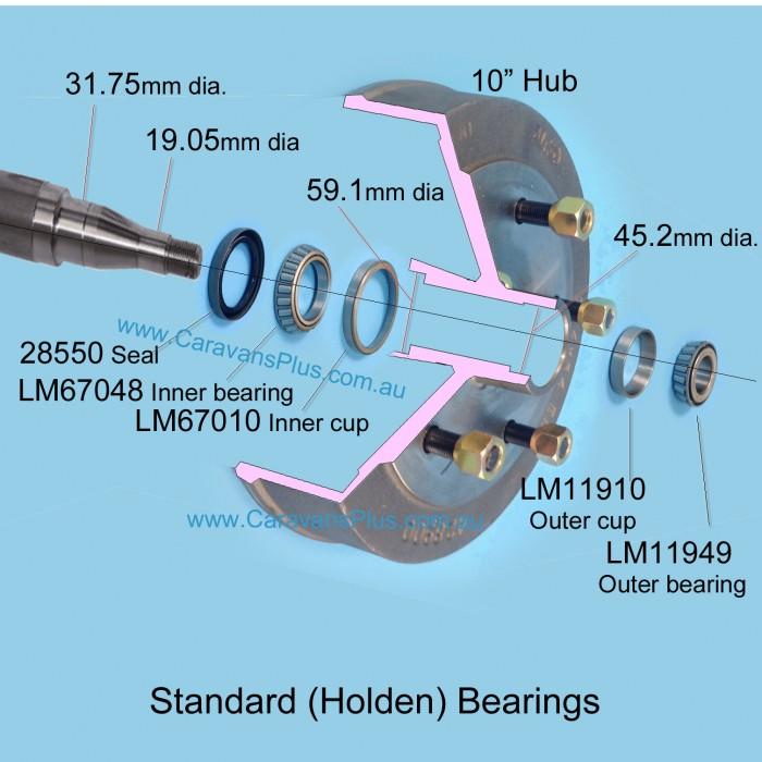 Caravansplus Alko Standard Holden Bearing Kit Complete