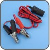 12V Cigarette Extension Cord With Battery Clip
