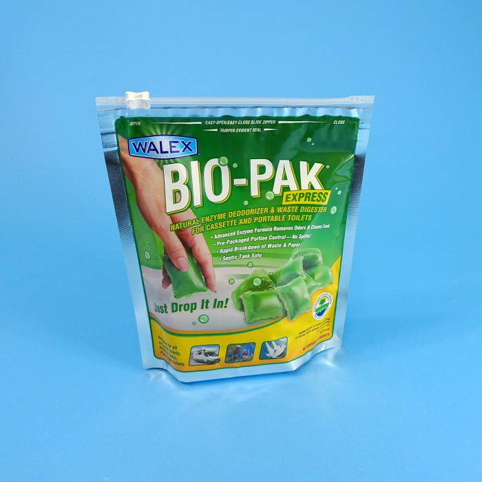 Walex Bio-Pak Express Green - Waste Cassette Drop-In - 15 Sachets - Septic Safe