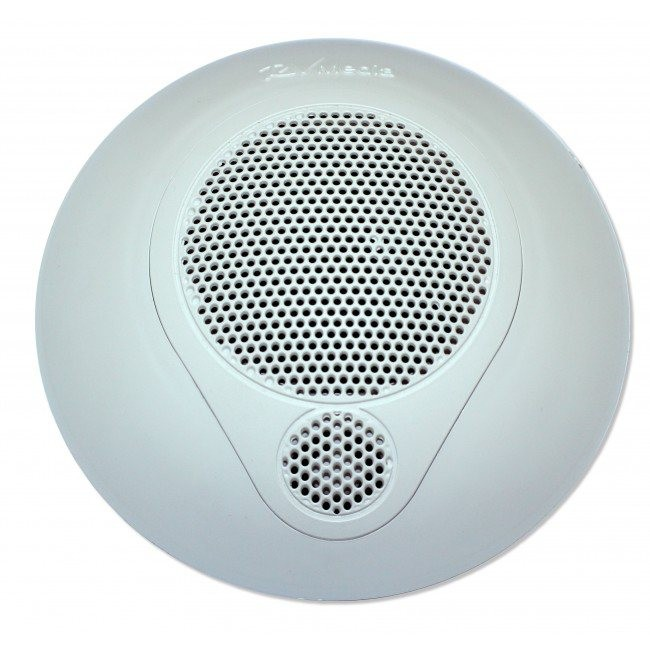 RV Media 6.5 Inch Waterproof Speakers - Surface Mount - 100watt Includes Tweeter - White - Pair