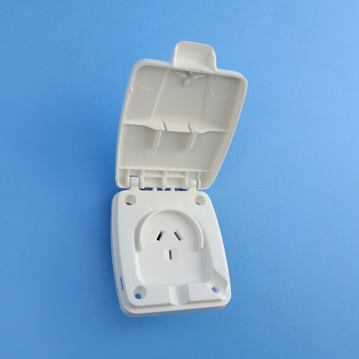 Clipsal Power Outlets, 10amp, Weatherproof Lid, Pre-2006, WHITE