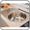 Jayco Stainless Steel Sink, Round Basin & Drainer, 720mm x 440mm