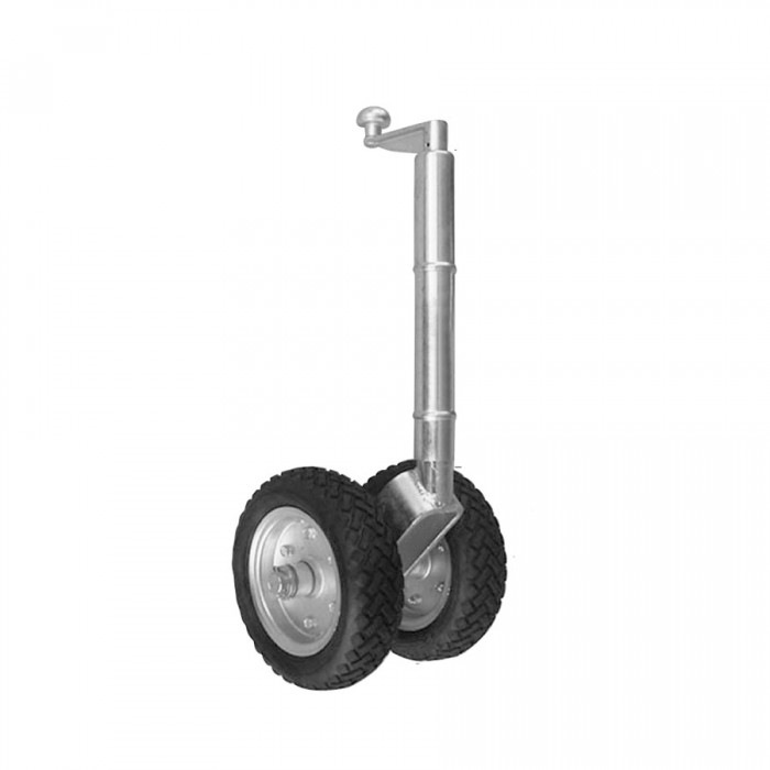Manutec Solid Rubber Twin Jockey Wheel With Clamp - Suit 12V Moving Systems - Capacity 1000kg