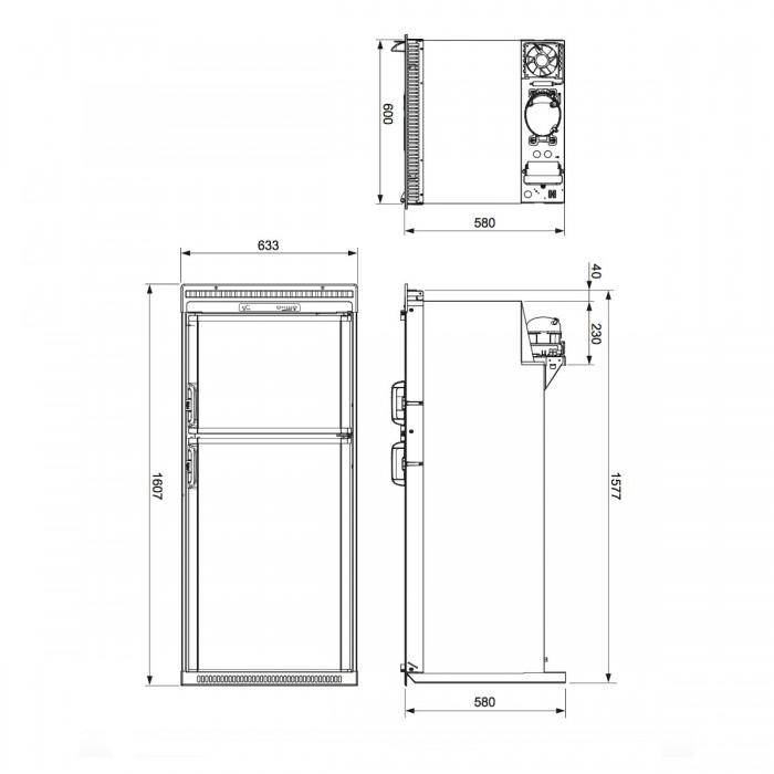 Caravansplus waeco coolmatic rpd 218 fridge freezer 218 litre rpd 218 dimensions asfbconference2016 Gallery