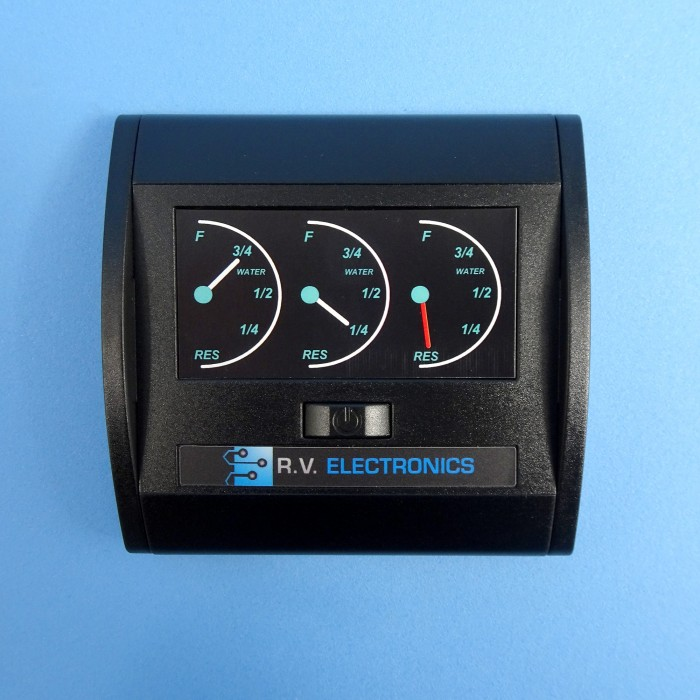RV Electronics LCD 3 Tank Water Level Indicator