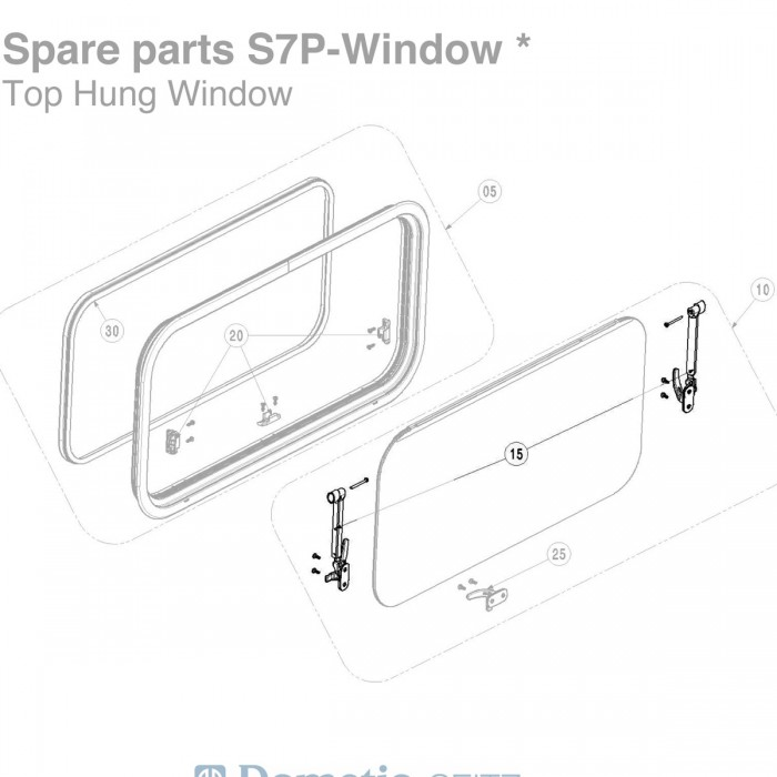 BG2409-450: Window Stays (Pair) - Suit 450mm Seitz S7P Windows