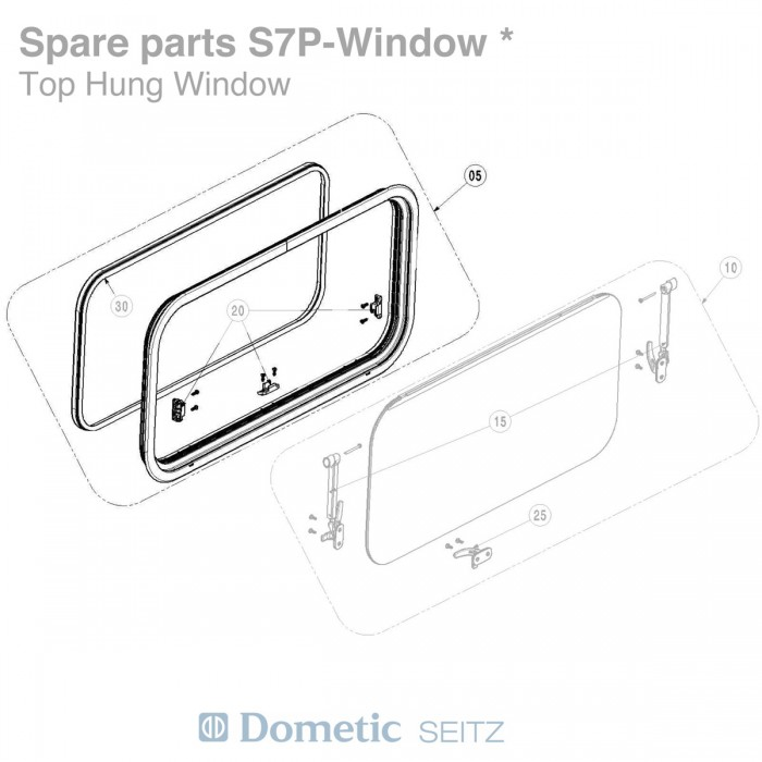 Outer Frame - Suit Seitz S7P Window - 500 x 250mm