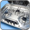 Smev 8000 - 3 Burner Hob With Lid