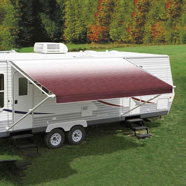 Carefree Fiesta Awning 13ft - Burgundy Shale Fade - Fabric On Roll (No Arms)