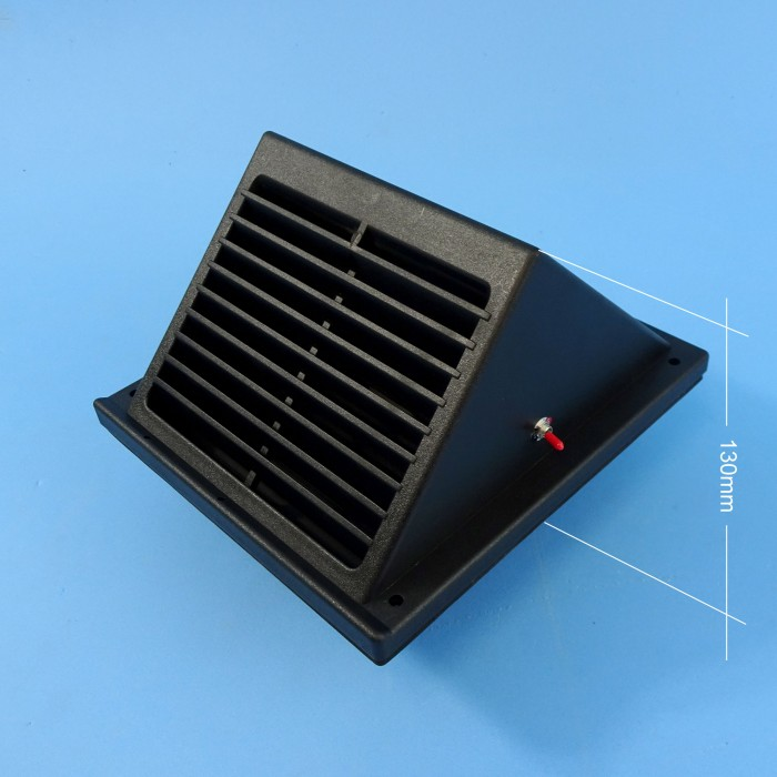 Caravansplus Solar Powered Wall Vent Fan Black