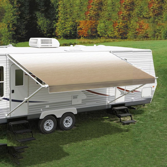 Carefree Fiesta Awning 13ft - Camel Shale Fade - Fabric On Roll (No Arms)