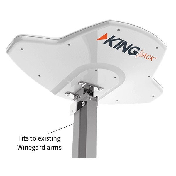 King Jack Digital HD Antenna - Suit Winegard Lifter and Round Mast