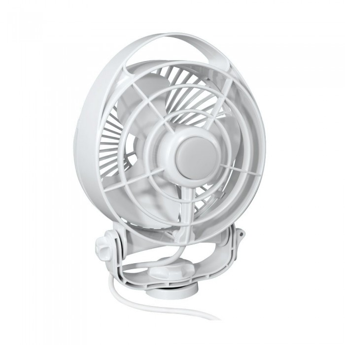 Maestro 12V Fan with Light & Remote - Variable Speed (White)