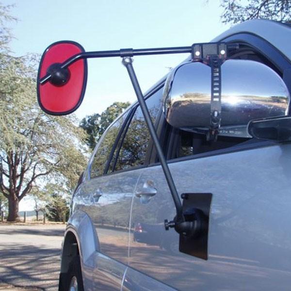 Caravansplus ora big red magnetic door towing mirror for Big door mirror