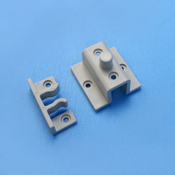Grey Shower Door Pivot Catch - 2 Parts C2732A