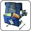 Included carry bag doubles as chair back storage