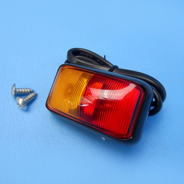 LED Red/Amber light, 58mm x 35mm, 12v/24v, 2 x LED