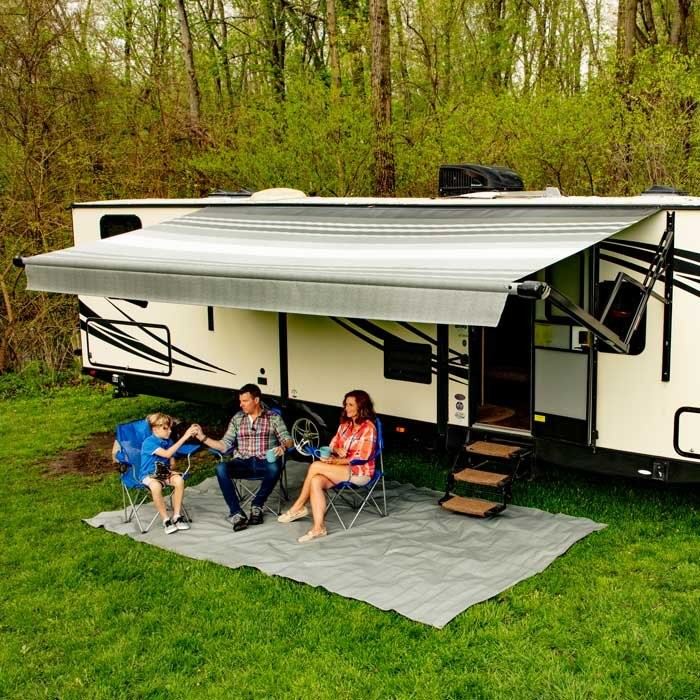 Carefree Altitude 12V Awning 10ft w LEDs - Silverfade - Fabric on Roll (No Arms)