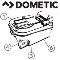 Spare Parts Diagram - Dometic Saneo Cassette Toilet - Holding Tank