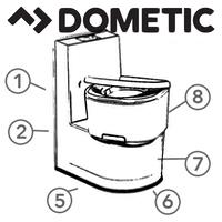 Spare Parts Diagram - Dometic Saneo Cassette Toilet